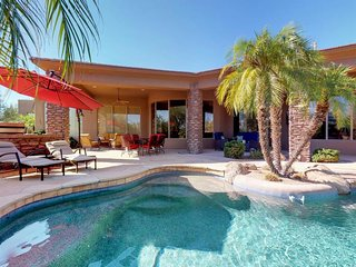 Elegant desert home w/ pool, terrace - near golf, shops & restaurants!
