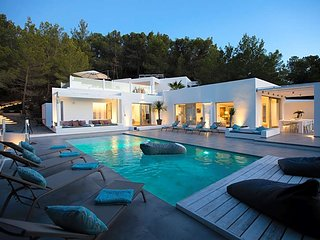 6 bedroom Villa in Cala Tarida, Balearic Islands, Spain : ref 5669371