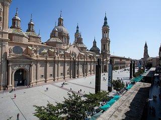 ▷ Panorámica Plaza del Pilar