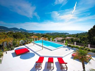 6 bedroom Villa in Cala Tarida, Balearic Islands, Spain : ref 5669315