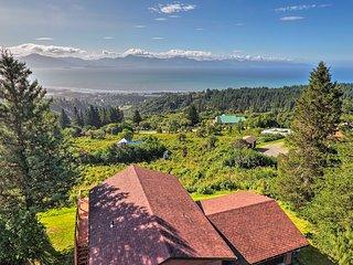 House w/ Homer Spit, Kachemak Bay & Volcano Views