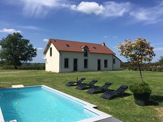 Maison climatisée,  piscine spa sauna