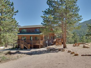 NEW LISTING! Historic cabin w/ a furnished deck & breathtaking mountain views!