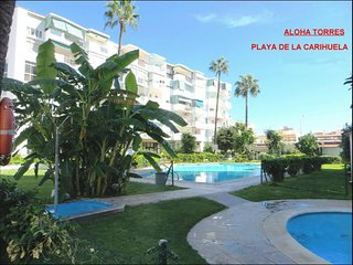 Aloha 7 sunny,pool,wifi,sat-tv,air-cond,GARAGE,beach,garden