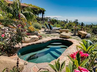 Lush 3BR Garden Estate w/ Private Hot Tub & Superb Ocean Views