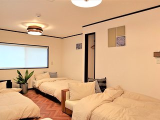 NexStay House Osaka West|Near USJ,Namba! Sta-6min walk,FreeWiFi,MAX 7 PPL