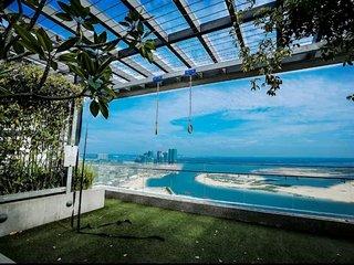 Superd Seaview & Pool view at Tropez Residence Danga Bay Johor Bahru