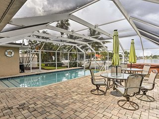NEW! Grand Cape Coral Home w/Pool, Hot Tub & Dock!