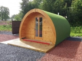 Luxury Pod with Hot tub at Barrhill Holiday Park 3