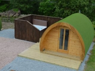 Delux Pod with Hot Tub at Barrhill Holiday Park 4