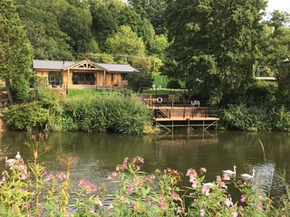 Severn Lodge -  Stunning log cabin perched right on the banks of the Severn