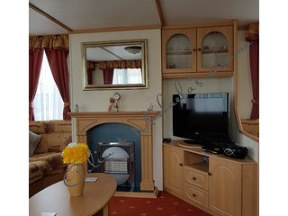 Colin & Michaela's caravan for hire on Happy Days Towyn