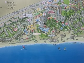 Map of Bahia Feliz with lots of activities for all the family have a walk by the beach it s only fab