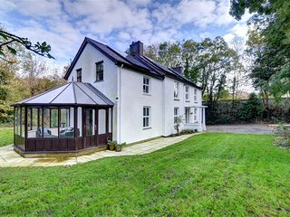 Aberelwyn Mill: Spacious, Detached House in West Wales Countryside - WAV433