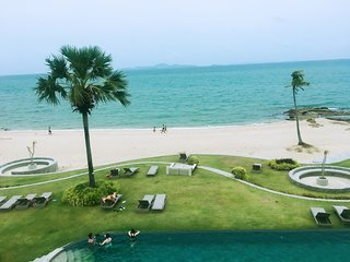 Beach Front Sea View luxury apartment with swimming pool beautiful sunset view