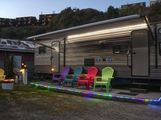 Cowabunga - A luxury trailer just minutes from our private dock in the harbor /