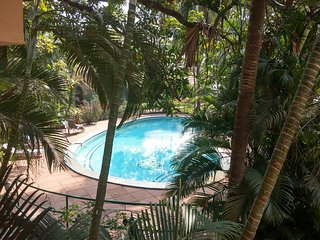 A beautifully furnished 1 BHK Apt. in a Gated complex with a pool