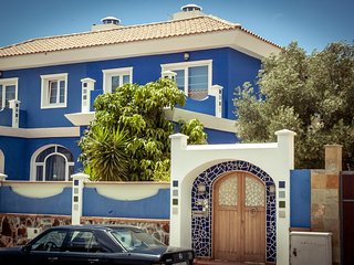 The Blue House In Maspalomas.