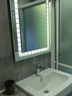 Touch mirror in the bathroom