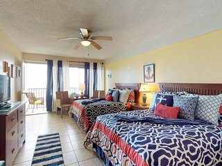 NEW LISTING! Oceanfront studio with shared pool and direct beach access!