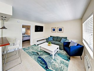 Steps to Pompano Beach! Newly Furnished 1BR w/ Pool