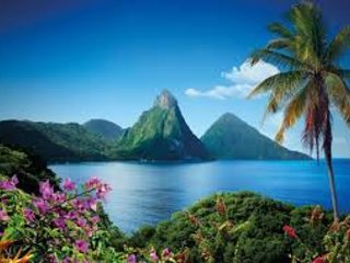 The famous Pitons just a short drive or sail away from our villa