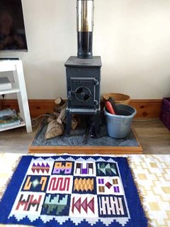Although small the wood burner is extremely effective