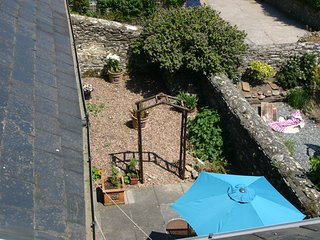 A view of the back garden from the top bedroom