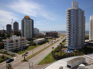 Apartamento en torre de excelentes servicios sobre playa brava.
