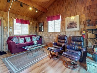 New Listing! Dog-friendly cabin with balcony views, near skiing and lake