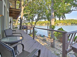 Waterfront Sunrise Beach Home w/Hot Tub & Dock