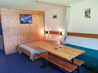 Studio 3 personnes a Arc 1600 ski aux pieds et proche des commerces