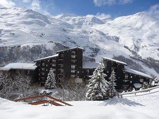 Bel appartement rénové style montagnard au bord des pistes