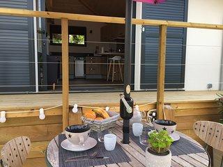 Maisonnette Neuve à Capbreton au calme 30m2 de terrasse 5mn des plages