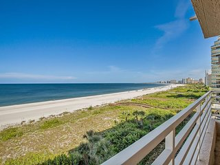 Lovely Beachfront Condo in Prized Gated Resort..Savor the Views!