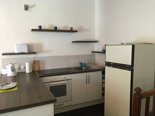 Fully equipped kitchen including utensils and crockery