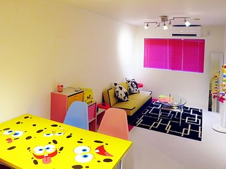 Colorful Pop Bob's Suite Cozy Room  ☆FREEWiF access & portable WiFi to keep you☆