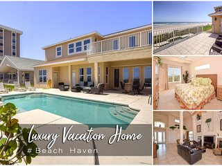 Feb Specials! 'Beach Haven' - Oceanfront Pool Home -  4BR/4.5BA
