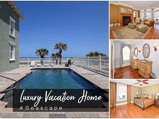 Jan Specials! 'Seascape' - Oceanfront Pool Mansion -  8BR/8.5BA
