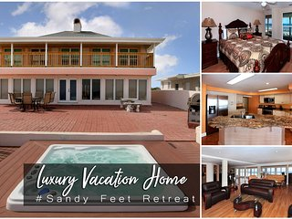 Jan Specials! 'Sandy Feet Retreat' - Oceanfront W/ Hottub - 6BR/6BA