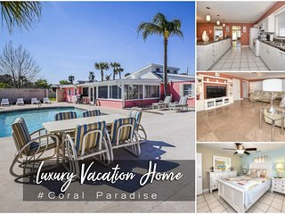 Nov Specials! 'Coral Paradise' - Luxury Pool Home - 5BR/3.5BA