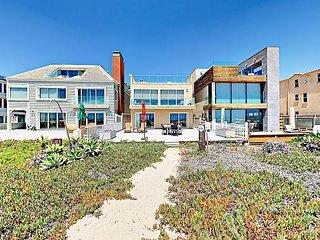 Oceanfront Stunner 3BR w/ Balcony & Direct Beach Access