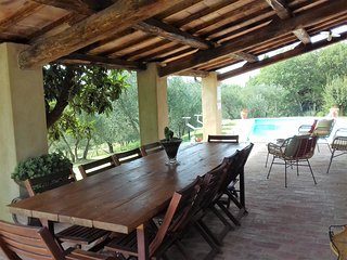 I MELOGRANI II: 3BDR Tuscan villa,view,pool,WiFi
