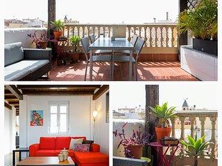 Ático en el centro de Málaga, terraza privada