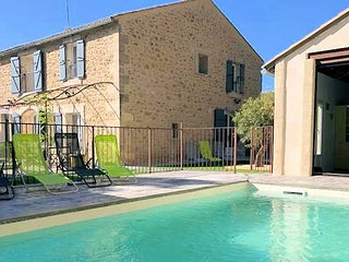 Caux holiday home in France with private pool sleeps 10