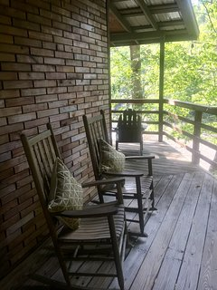 Nothing to worry about while sitting on the wrap around porch with wildlife surrounding you.
