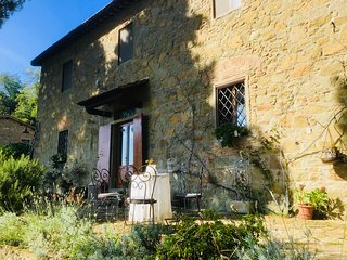 Typical stone house in Chianti between Florence and Siena with private pool,view