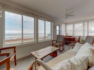 Updated oceanfront home w/ ocean views & entertainment - walk to beach!