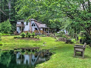 Serene Todd Home w/ Private Pond & Creek!