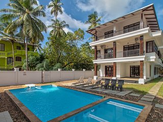 #VillaCalangute Phase 12- 6BHK House with an Open to Sky Bathroom, Carom Board